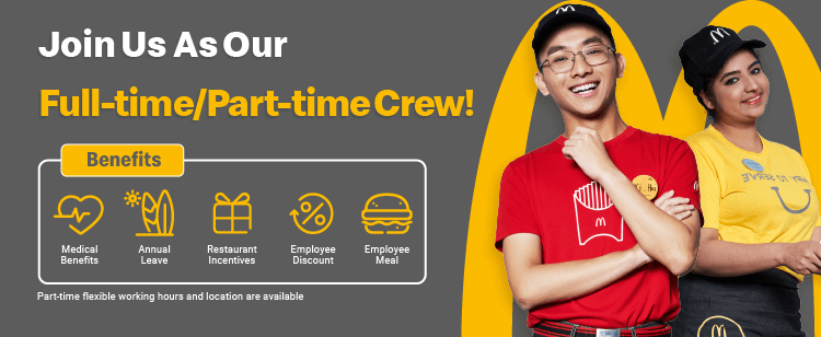 McDonald's Singapore is now hiring on FastJobs!